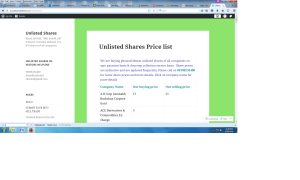 for buy sell unlisted shares