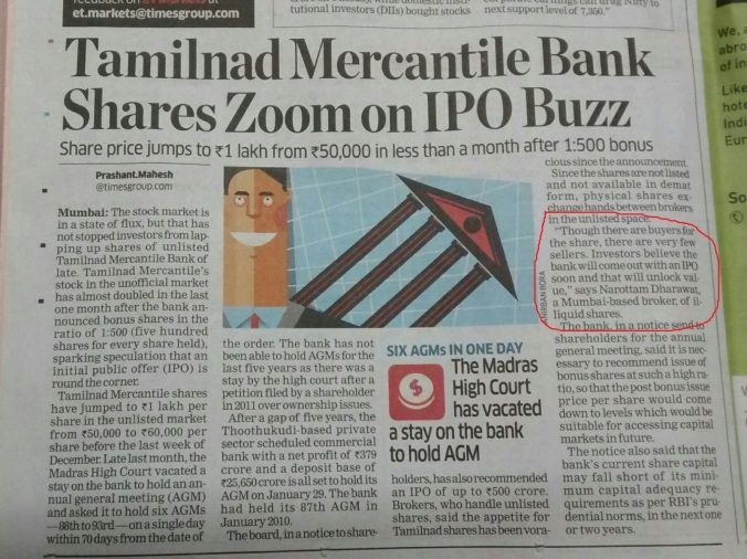 snapshot of TMB article coverage in newspaper